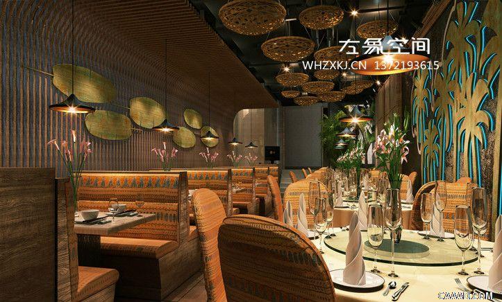 威海餐饮设计 椰壳主题餐厅设计